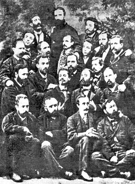 Grupo de fundadores de la Primera Internacional.