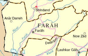 Map of Farah Province