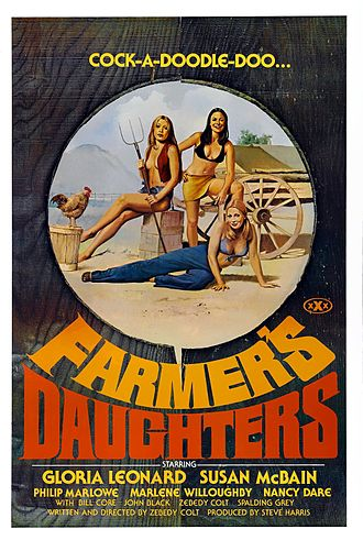 Farmer's daughter - The 1976 pornographic film The Farmer's Daughters plays off of the sexual aspects of the term