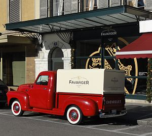 English: Favarger Antique Chevrolet Truck and ...