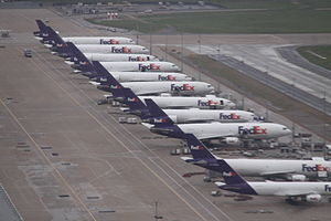 Airline hub - FedEx Express aircraft at Memphis International Airport