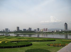 Fen River - A view of the Fen River Park in central Taiyuan as of 2011.