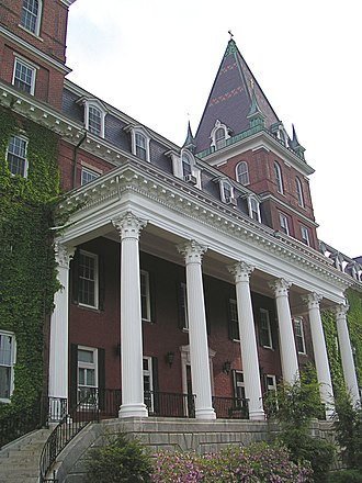 College of the Holy Cross - The college's flagship building, Fenwick Hall.