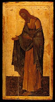 Icon of John the Baptist by Theophan the Greek, c. 1400.