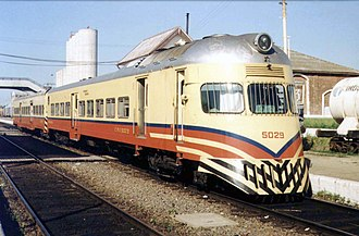 Materfer - Diesel railcar 7131, first built in 1962.