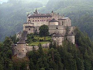 Where Eagles Dare - Festung Hohenwerfen, in Werfen, Austria, where the castle scenes were filmed