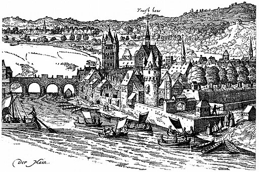 FfM-AnsichtVonSudewesten-1612-19(AusschnittSachsenhausen)