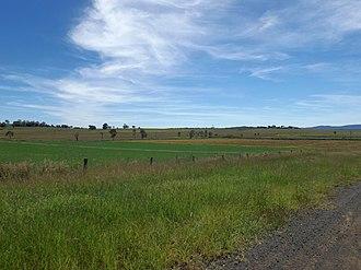 Lower Mount Walker, Queensland - Fields along Stokes Crossing Road, 2015