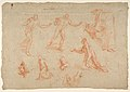 Figure and Drapery studies (recto); Three Studies of a Male Torso for the 'Coronation of Marcantonio Pasqualini' (verso) MET DP812325.jpg