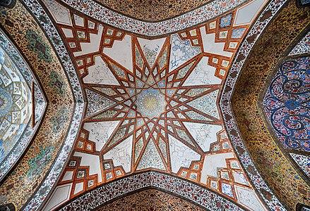 ghajar vault of fin garden in kashan, iran