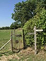 Fingerpost and gate on footpaths next to Crateman's Farm - geograph.org.uk - 252188.jpg