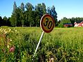 Finnish 30kph speed limit road sign.jpg