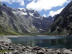 Lakes of New Zealand - Lake Marian in Fiordland National Park