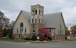 National Register of Historic Places listings in Tuscola County, Michigan - Image: First Presbyterian Church Cass City