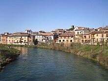 Il fiume Velino attraversa Rieti
