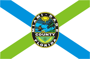 Miami Gardens, Florida - Image: Flag of Miami Dade County, Florida