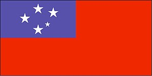 Flag of Samoa - Image: Flag of Samoa (WFB 2000)
