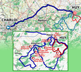 Routekaart  Waalse Pijl 2011