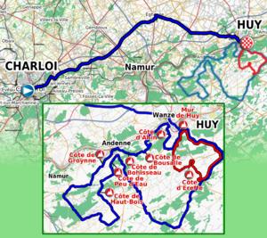 La Flèche Wallonne - The 2011 La Flèche Wallonne route