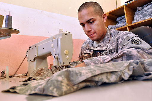 Flickr - The U.S. Army - Uniform repair in Iraq