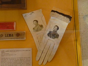 Flickr - bastique - Evening gloves with image of Juan Manuel de Rosas %281%29