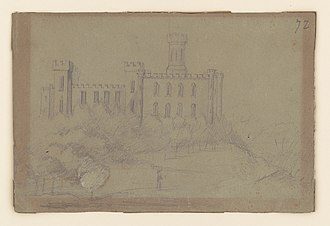 "Florence, Alabama - Adolph Metzner drawing of the ""female college"" in Florence"