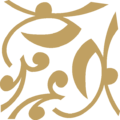 Flower Closed Ornament Gold Down Left.png
