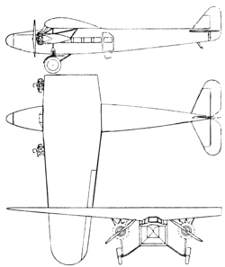 Fokker F.VIII 3-view L'Air February 15,1927.png