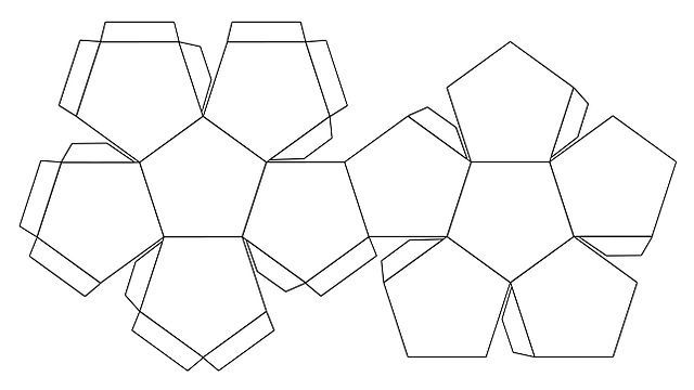 File foldable dodecahedron blank jpg wikimedia commons for Sphere net template
