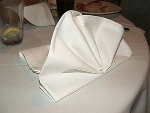 300px Folded napkin 01 Napkins, Going Green, and Manners