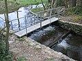 Footbridge and weir near Llynon Hall - geograph.org.uk - 171262.jpg
