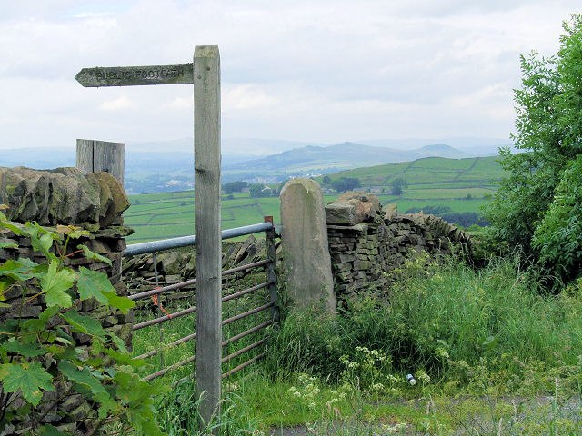 Footpath fingerpost, Jackson's Lane - geograph.org.uk - 473351