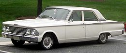 Una Ford Fairlane berlina del 1962