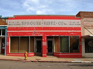 Sprouse-Reitz - An early Sprouse-Reitz store still lettered for the company (as of 2008) long after its closure, in Bisbee, Arizona