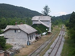 Former train station Repentabor from overpass.jpg