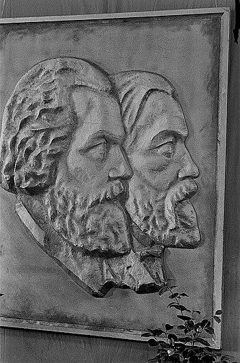 Fotothek df roe-neg 0006041 024 Reliefbildniss von Karl Marx und Friedrich Engels