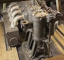 For Amundsen's South Pole expedition, Fram was fitted with this diesel engine. Fram 1910-1912 Diesel Engine.jpg