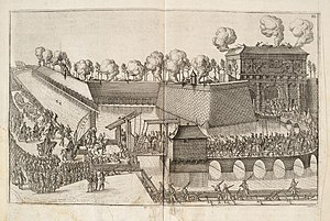 Francis, Duke of Anjou - The Duke enters Antwerp, greeted by cannons.