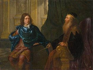 Old Testament Scene (Solomon and King David)