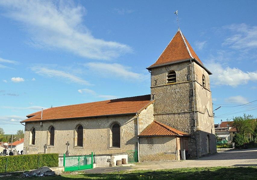 Church of St. Avitus in Autrécourt-sur-Aire (canton Seuil-d'Argonne, Meuse department, Lorraine region, France).