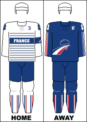 France men's national ice hockey team - Image: France national hockey team jerseys 2014