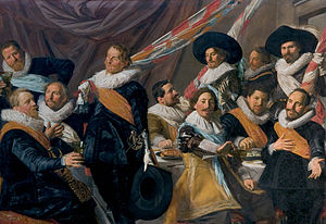 Aart Jansz Druyvesteyn - Banquet of the officers of the St. Jorisdoelen, painted in 1627.