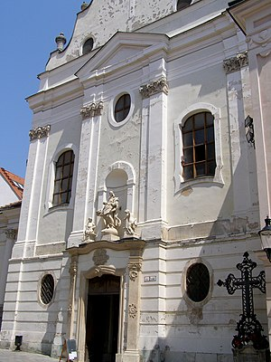 Franciscan Church, Bratislava - Entrance to the Franciscan Church in Bratislava