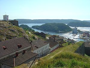 Fredriksten - Fredriksten fortress, Halden, Norway - view of the city of Halden from the top of the fortress