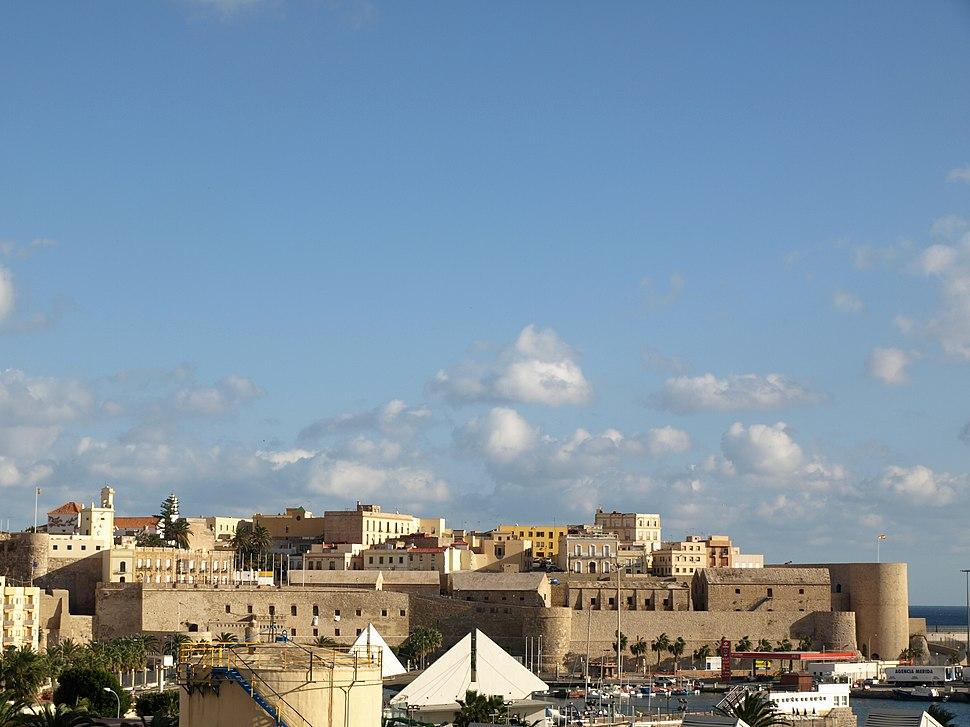 Frente de la Marina, Melilla la Vieja