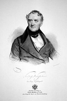 Friedrich Wilhelmi, Lithographie von Josef Kriehuber, 1840 (Quelle: Wikimedia)