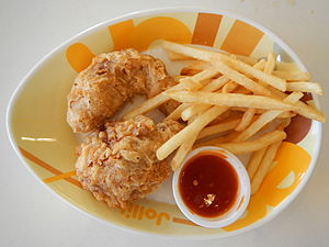 Buffalo wing - Crispy chicken wings with french fries