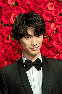 "Fukushi Sota from ""The Travelling Cat Chronicles"" at Opening Ceremony of the Tokyo International Film Festival 2018 (44894432324).jpg"
