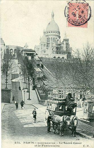 Montmartre Funicular - First Montmartre funicular