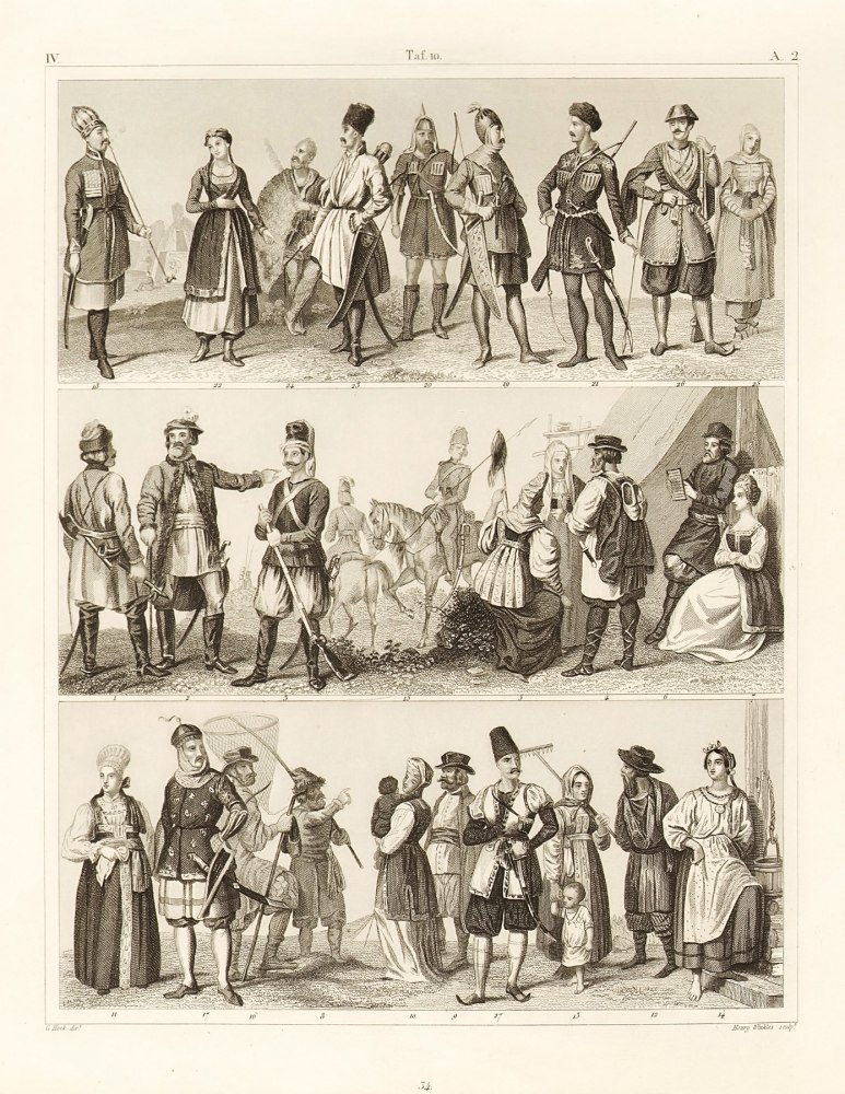 G. Heck. Russian and Caucasian Tribes. 1849